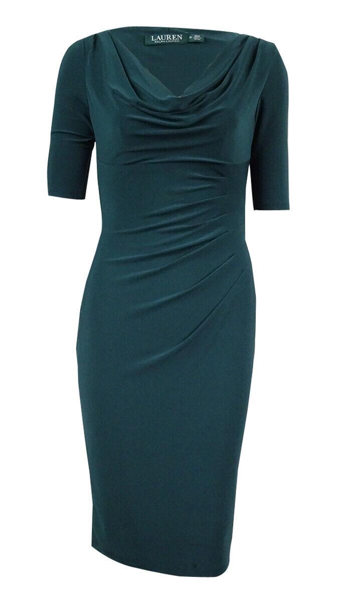 Lauren Ralph Lauren Woherren Cowl Neck Jersey Dress