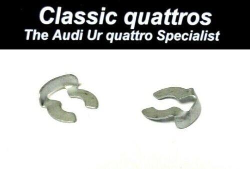 """2 x Clip Fermo Montante Del Cofano """"Autentico"""" Audi Ur Quattro Turbo Coupe/80/90/100"""