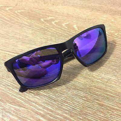 Oakley SLIVER OO9262-10 Matte Black Violet Iridium Polarized Lens Sunglasses