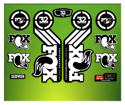 PEGATINAS HORQUILLA FORK FOX 32 PERFORMANCE ELX56 STICKERS AUFKLEBER DECALS MTB