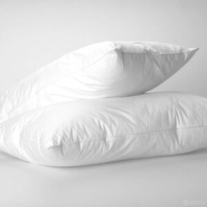 2-X-Luxury-Duck-Feather-amp-Down-Pillow-Pair-Extra-Filling-Comfort-Hotel-QualityD3