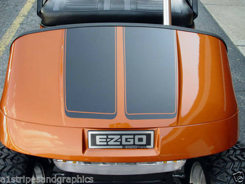 "All Make Golf Cart EZGO Club Car 7"" Hood Stripe Stripes Graphics Yamaha Decals"
