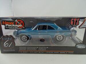 1:18 Autoroute 61 # 50200 - 1969 Dodge Dard Bright Bleu Rare $