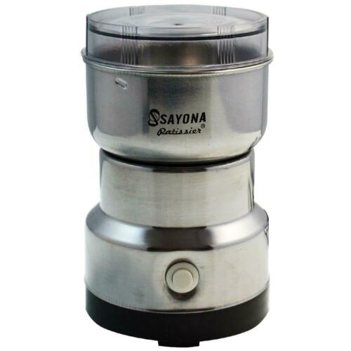 SAYONA Stainless Steel Household Electric Coffee Bean Powder Grinder Maker C#P5
