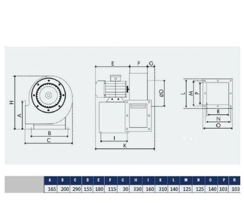 Radialgebläse mit Flexrohr und Flansch Industrie Ventilatoren//Lüfter//Gebläse#