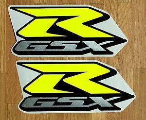 Details Zu Aufkleber Set 2tlg Größe 1 F Suzuki Gsxr Gsx R 600 750 1000 Bj2001 19 Neongelb