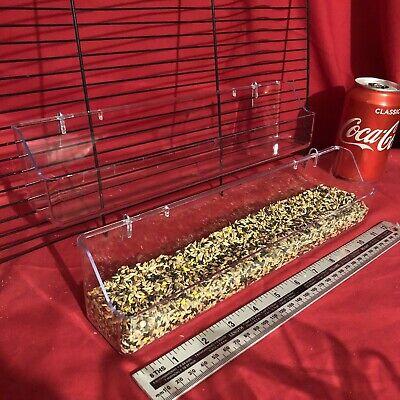2 X Aviary Breeding Feeder 30cm Clip On Cage Water Food Bowl 2 Hook Cup Trough Geschikt Voor Mannen, Vrouwen En Kinderen