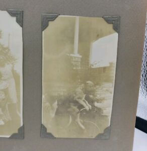 Antique Vacation Photo Album Yosemite Eclipse Dog On Bicycle MUST SEE VIDEO!