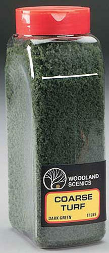 Woodland Scenics T1365 Dark Green Grass Coarse Turf Shaker