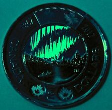 BU UNC Canada 1867-2017 150th glow-in-the-dark $2 toonie coin from mint roll