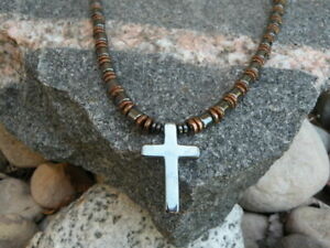 Magnetic Hematite Cross Necklace
