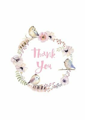 New Thank You Cards Premium White Card Stock 270gsm Digitally Printed Pack 10