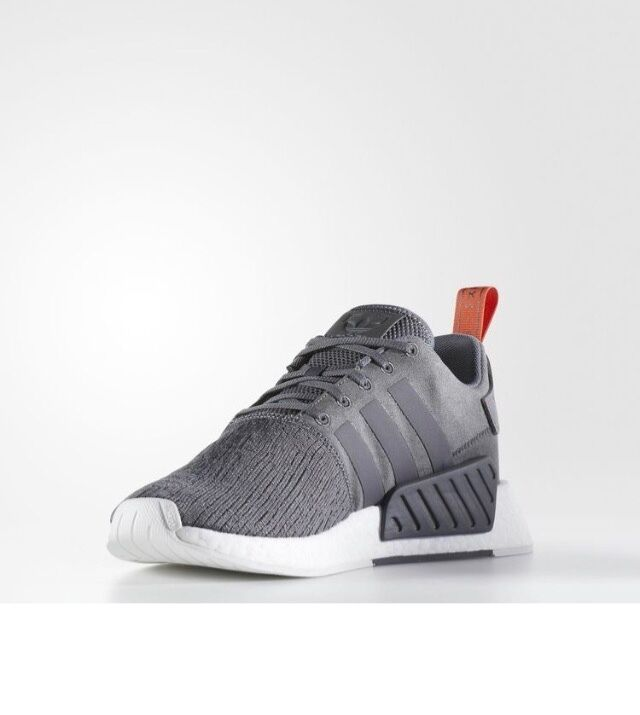 ADIDAS NMD R2 RUNNER CASUAL MEN's GREY FIVE - FUTURE HARVEST AUTHENTIC NEW US SZ
