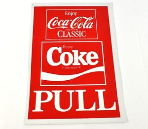 Coca-Cola-Coke-20-x-14-cm-Pull-Aufkleber-USA-Sticker-Vinyl-Decal-Classic-Logo