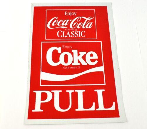 Coca Cola Coke 20 x 14 cm Pull Aufkleber USA Sticker Vinyl Decal Classic Logo