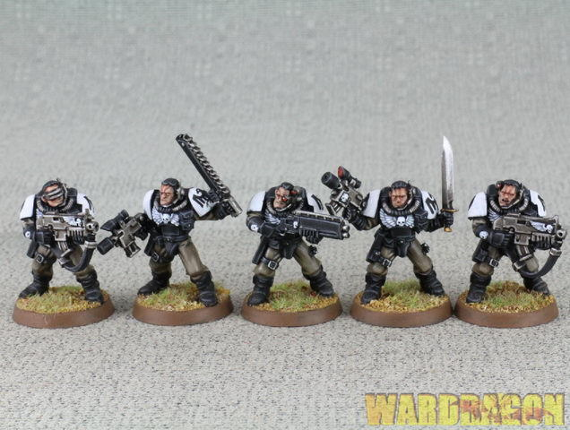 25 mm Warhammer 40K WDS painted RAVEN  GUARD Scout e65  nouvelle marque