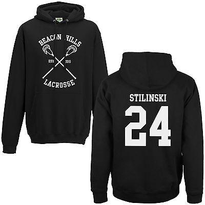 Beacon Hills Lacrosse Hoodie - Teen Wolf Stilinski Lahey McCall Black Hoody Top