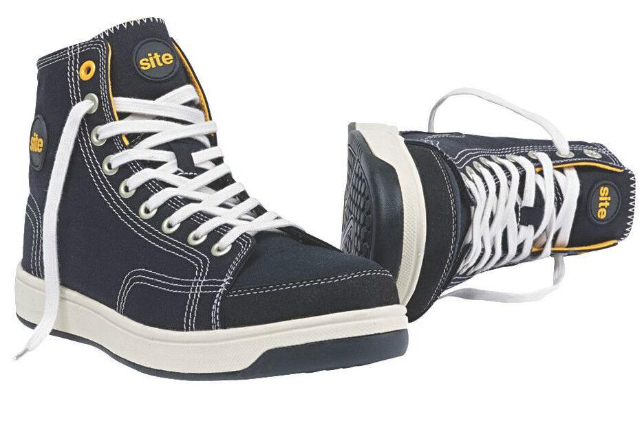 Sito norite Hi-Top sicurezza Stivali neri e duro suola in gomma | Regalo ideale per tutte le occasioni  | Sig/Sig Ra Scarpa
