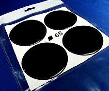 (1378) 4x Schwarz Embleme für Nabenkappen Felgendeckel 65mm Silikon Aufkleber