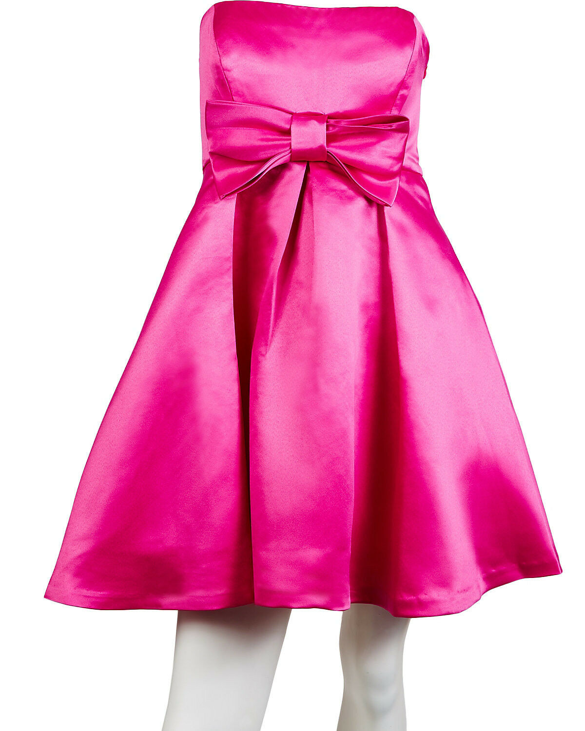 Betsey Johnson Dress Bow Party Dress in Pink Satin Sheen-NWT  RP