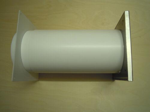 2 Schellen 150er Edelstahl Energiespar-Mauerkasten PowAir mit 1m Abluftschlauch