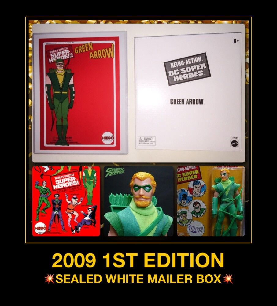 Comme neuf on Card Comme neuf IN BOX vert ARROW 09 Matty Mego collector exclsv RETRO action DC super héros