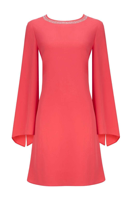 Wallis Corallo Impreziosito Split Manica Shift Dress 14