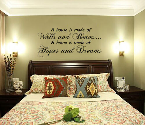 A House Is Made of Walls and Beams Wall Art Sticker Decal UK RUI142