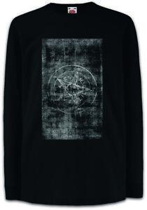Tarot-The-Symbol-of-Baphomet-Kinder-Langarm-T-Shirt-Das-Symbol-von-Baphomet
