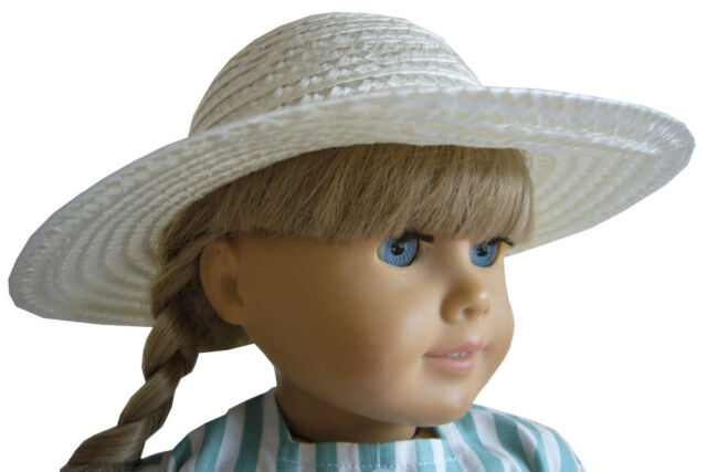 White Straw Hat 18 in Doll Clothes Fits American Girl Dolls