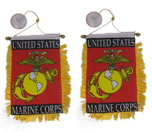 "Wholesale lot 12 EGA Marines USMC Double Sided Mini Flag 4/""x6/"" Window Banner"