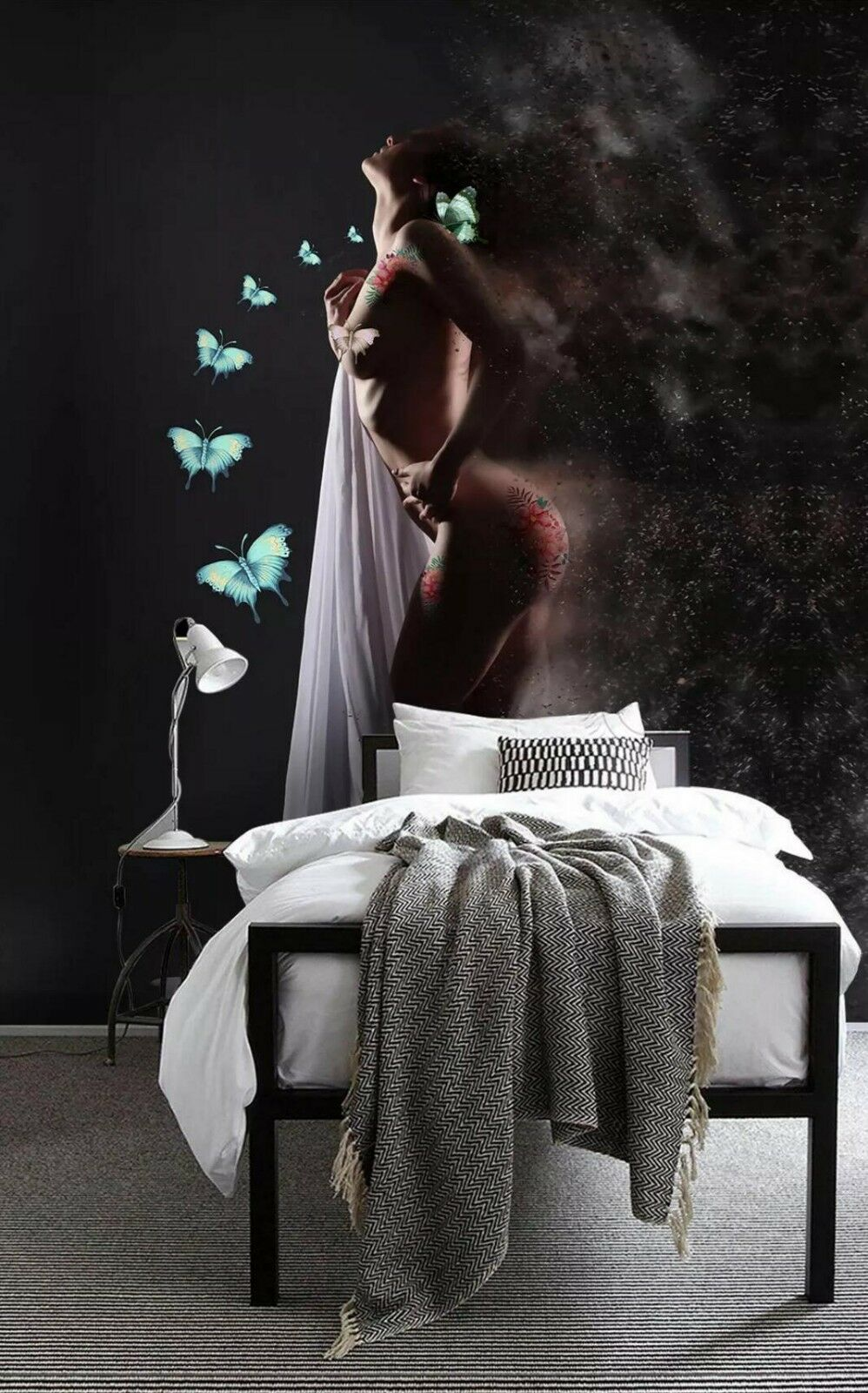 3D Woman Butterfly 06 Wall Paper Exclusive MXY Wallpaper Mural Decal Indoor