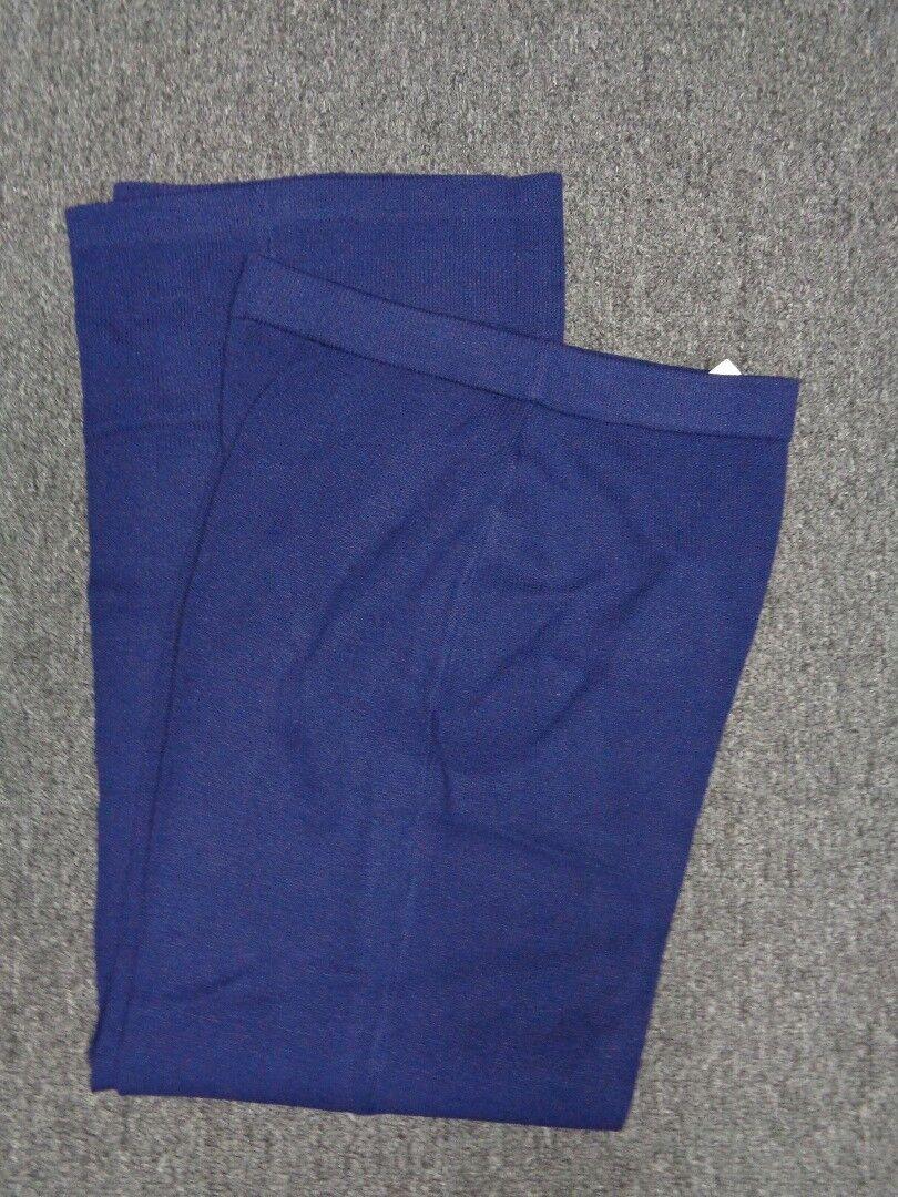 ST JOHN COLLECTION Navy Santana Knit Stretchy Casual Pants Size 6 SM12398