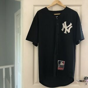 Image is loading Supreme-Yankees-Black-Baseball-Jersey-SS15 43b2779317f