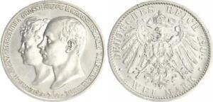 Mecklenburg-Schwerin-2-Marco-1904a-Friedr-Franz-Alexandra-Excelente