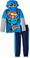 Superman Boys Hoodie Top And Pants Set 5ws8502 5ws6502 2t 3t 4t 4 5 6 7