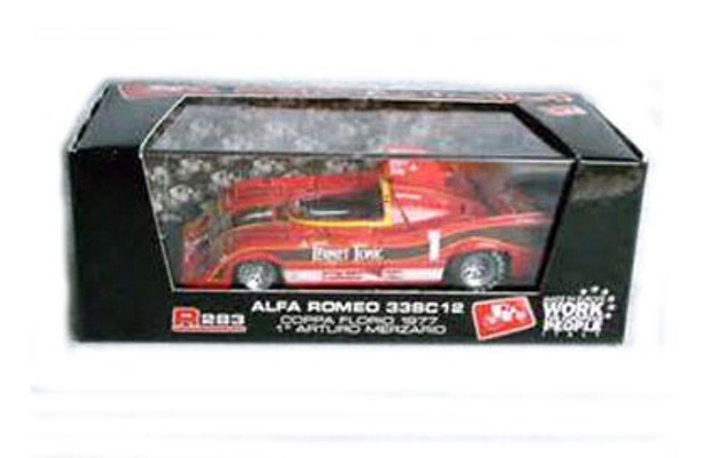 BRUMM R283 ALFA ALFA ALFA ROMEO 33SC12 diecast racing car Coppa Florio 1977 1 43 83037c