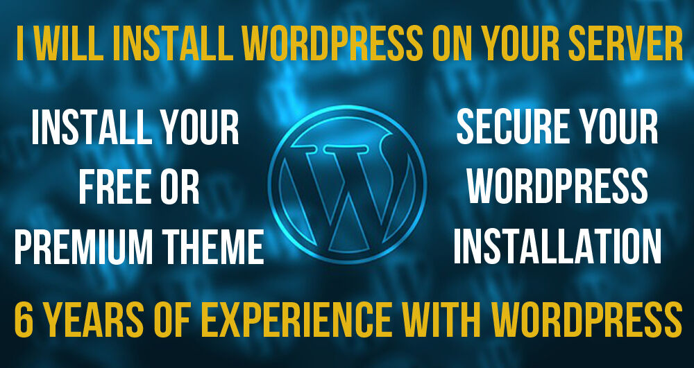 I WILL INSTALL AND SECURE WORDPRESS AND YOUR THEME ON YOUR SERVER 2