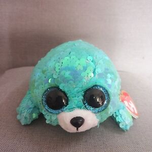 b4d33643d0d Ty Beanie Boo ICY the blue Seal Sparkle The Special Soft Toy
