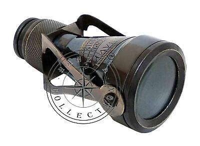 Antique Brass Binocular Monocular Maritime Vintage Nautical Royal Navy Telescope