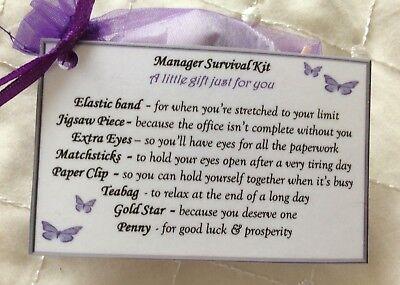 Supervisor Survival Kit Gift for secret santa Assistant Manager Manager Boss