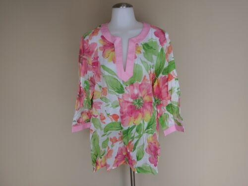 Jones New York Tunic Top Shirt XL Spring Summer Ea