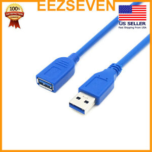 USB-3-0-Extension-Extender-Cable-Cord-M-F-Standard-Type-A-Male-to-Female-Blue