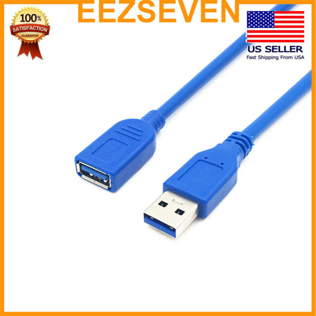 USB 2.0 Extension Cable Type A Male to Female Adapter Extender Wire Cord Lot 3m