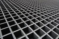 Frp Grating, 48x24 Single Deck Grating Mesh Panel, 1.5 Thickness