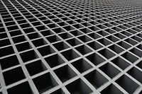 Frp Grating, 48x24 Single Deck Grating Mesh Panel, 1.5 Thickness