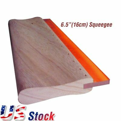 Caydo 9.4 inch Screen Printing Squeegee 75 Durometer Wooden 4.3 inch Wide