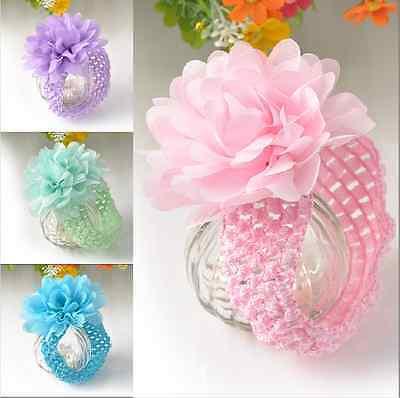 4X Baby Infant Kid Girl Toddler Hairband Lace Cute Flower Headband Hair Access