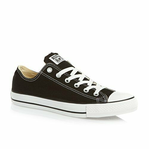 Converse Mens Chuck Taylor Black All Stars OX shoes - Size 8 UK     & NEW