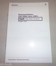 Werkstatthandbuch VW Golf IV / Bora Radio Telefon Navigation Stand 12/1998